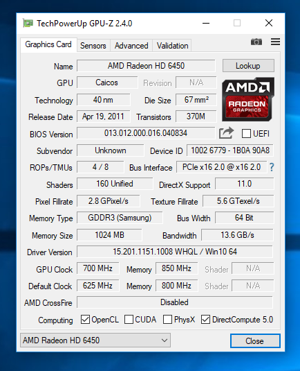 amd radeon 520 driver free download