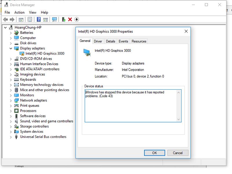 intel hd graphics 3000 windows 10 32 bit