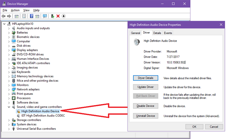 Solved: Hp Mic Audio Driver Not Working After W10 1703