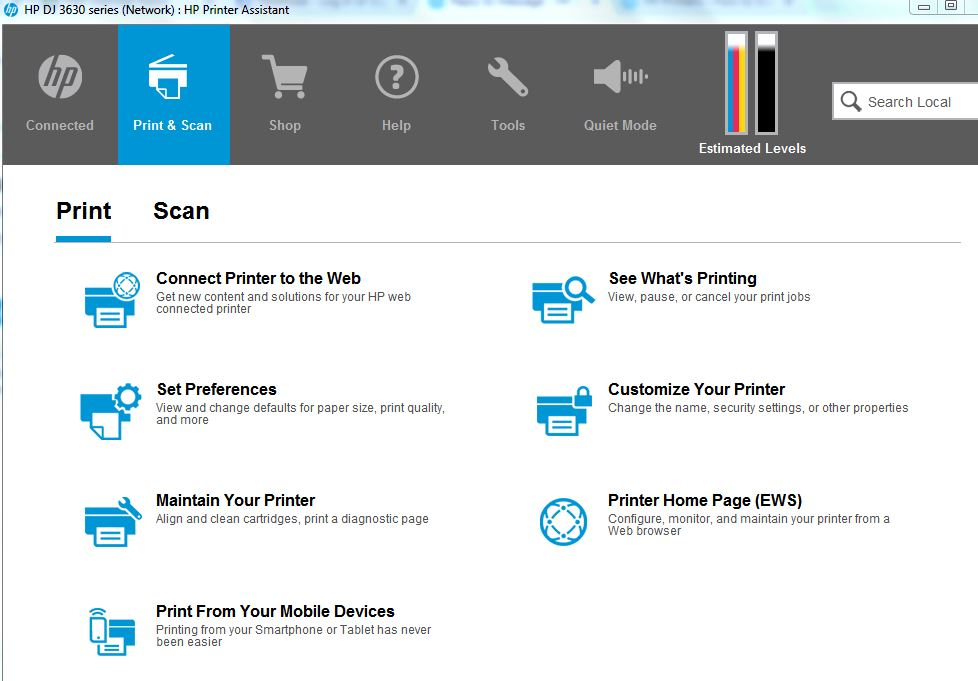 The Scan Button On The Hp 3632 Deskjet Printer Hp Support