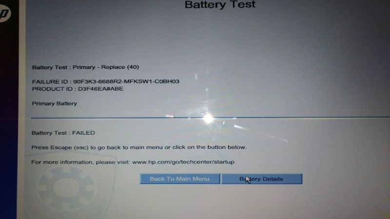 Battery Test replace and battery not charging neither Window
