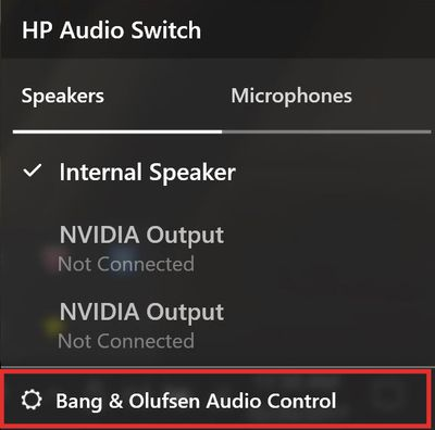 audio driver for windows 10 hp