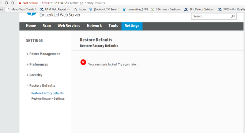Re: Administrator settings in Embedded Web Server - HP Support