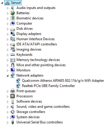 HP Envy 15-1055se Beats Limited Edition Notebook Atheros LAN Treiber