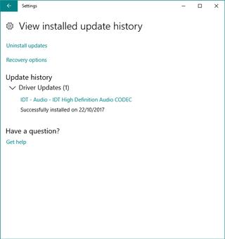 no sound after update windows 10