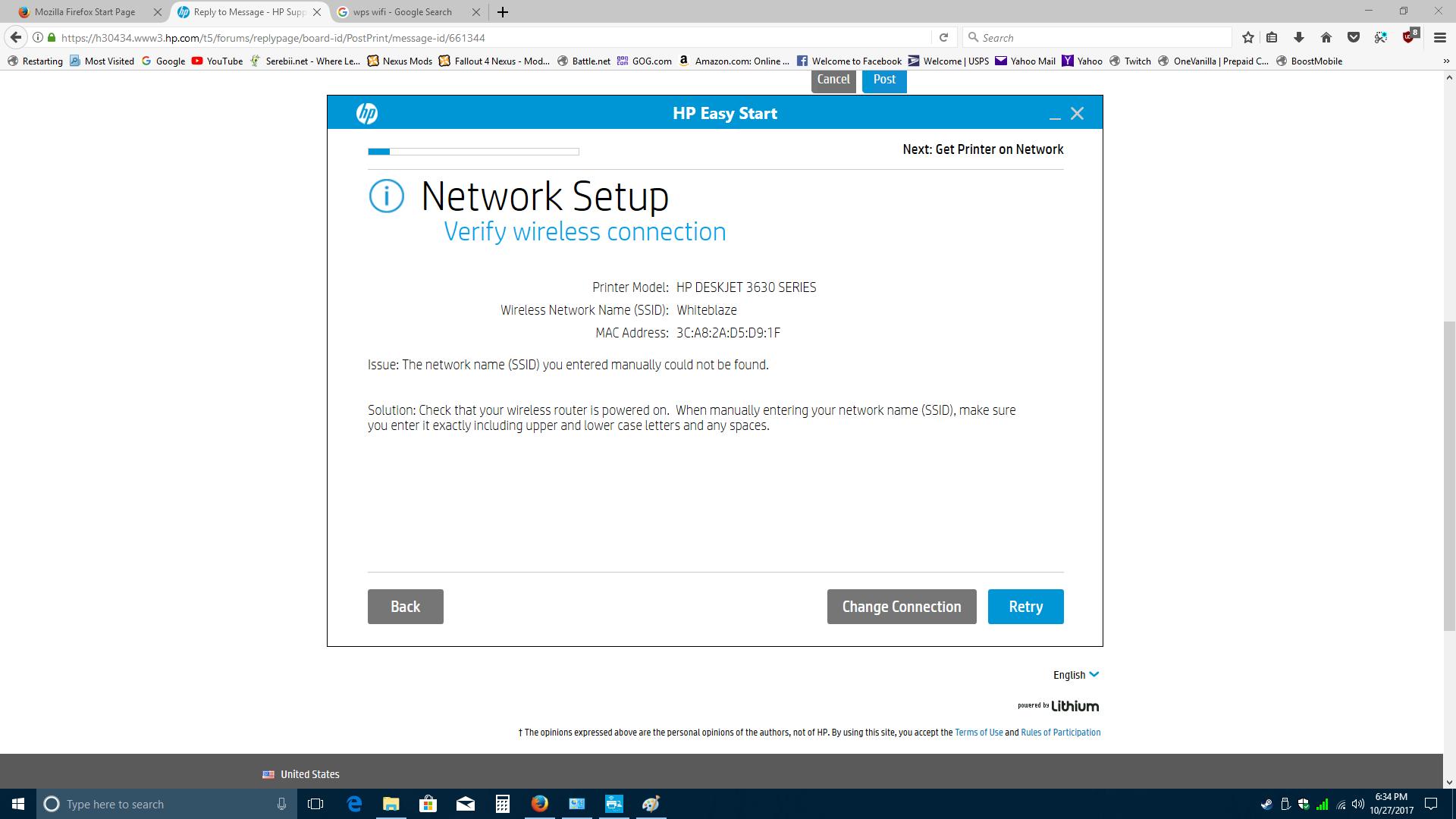 Solved Forgot My Deskjet 3630 Printer Password Hp Support