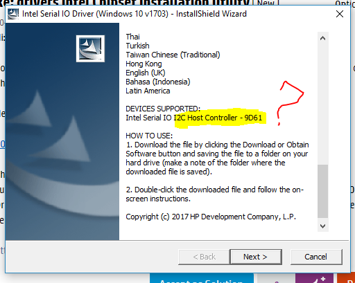 HP Intel Chipset Support Drivers (2019)