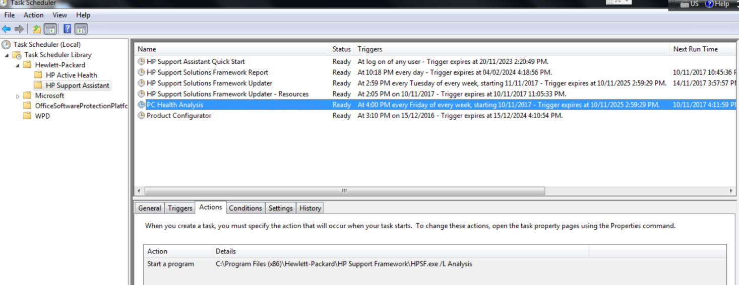 HP Support Assistant trying to use SNMP to discover network     - HP
