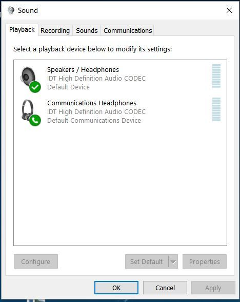 2- When I  right-click on Playback devices on speaker icon
