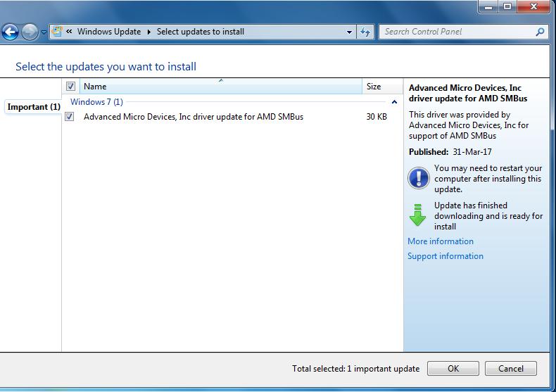 AMD SMBus Drivers Windows 7