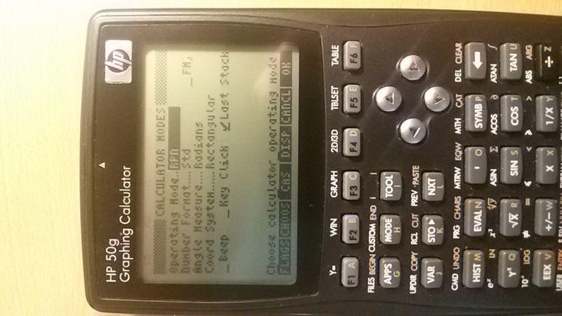 It is RPN calculator mode ...