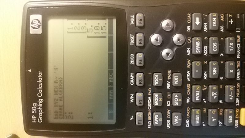 Here is the results of my calculatons , upper matrix is AAA down is B matrix