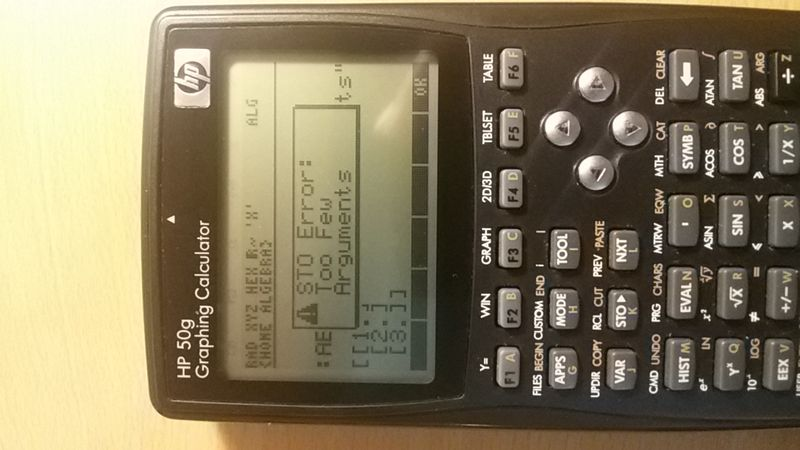 These kind of error I get while I am in Alg.. calculator mode