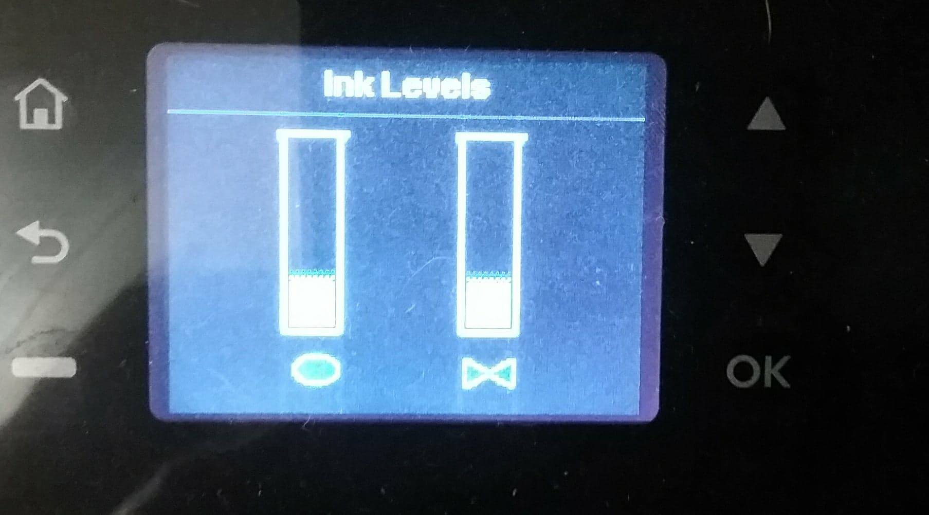 Solved: Don't know what icons mean for ink levels - HP Support