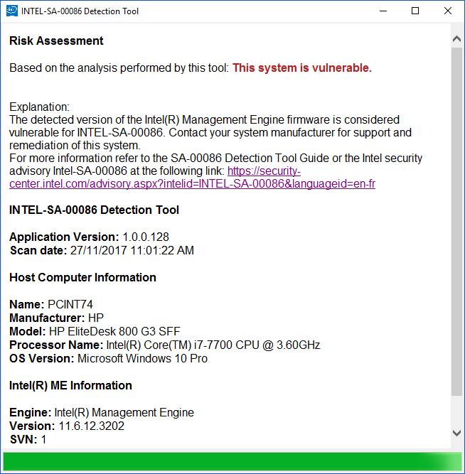Intel® Management Engine Critical Firmware Update - HP Support