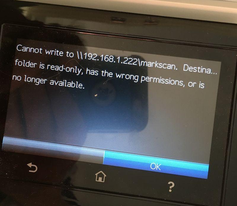 """Error when scanning to High Sierra MAC OS share but works under """"regular"""" Sierra share."""