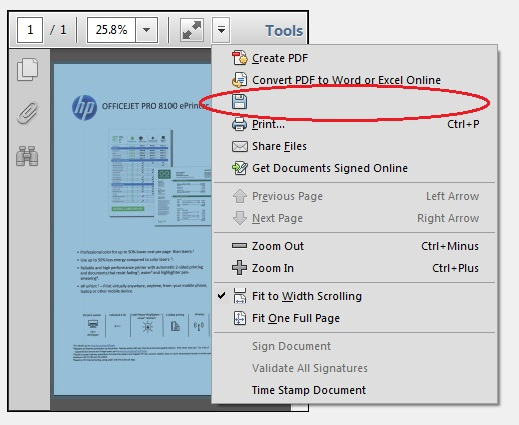 emailing or saving pdf in quickbboks