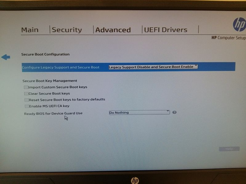 HP elitedesk 800 g3 enable legacy boot - HP Support