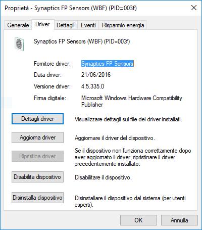Validity Fingerprint Sensor Driver