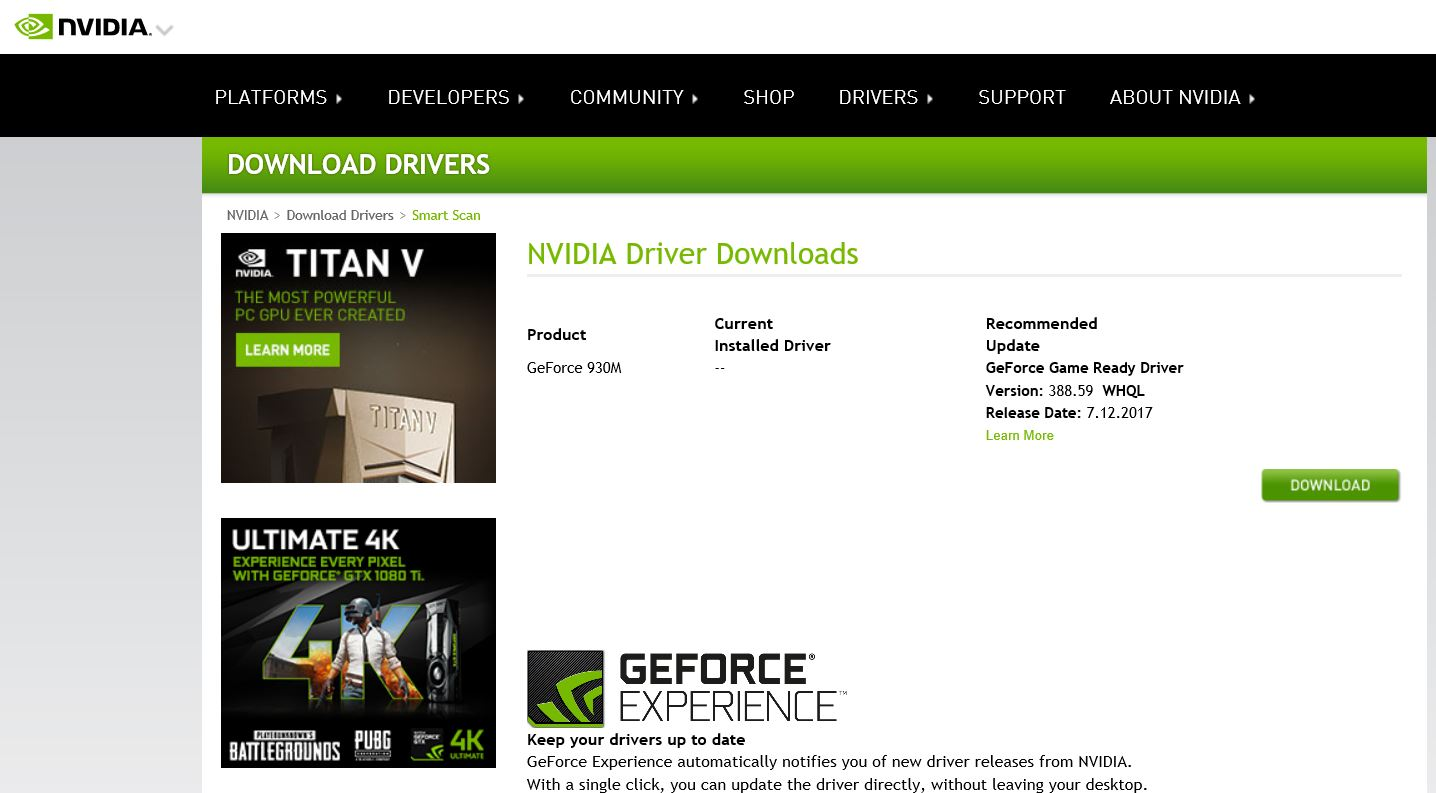Nvidia video card driver not installing - HP Support Community - 6463976