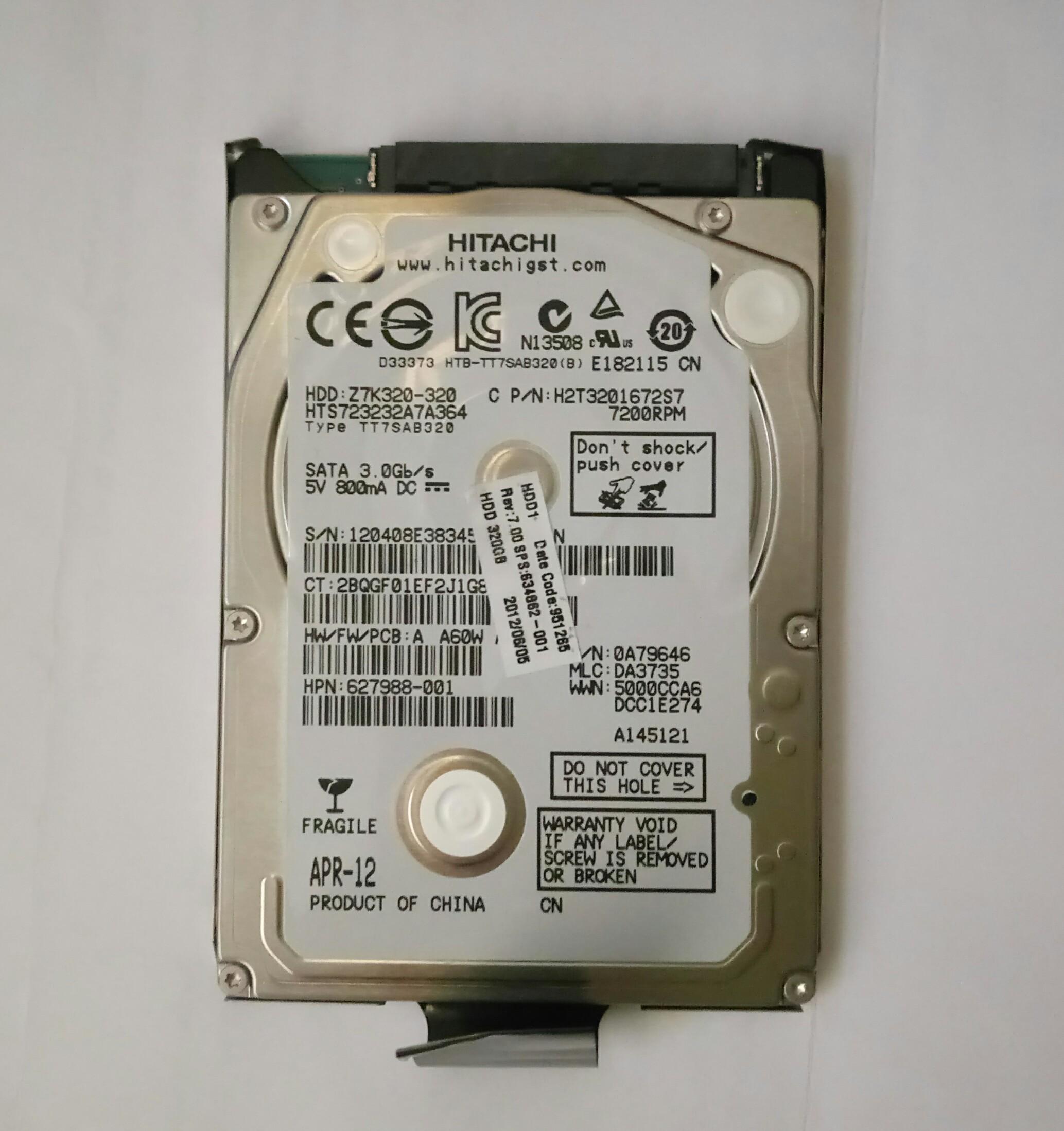 Cannot unlock locked original hard drive from EliteBook 8460