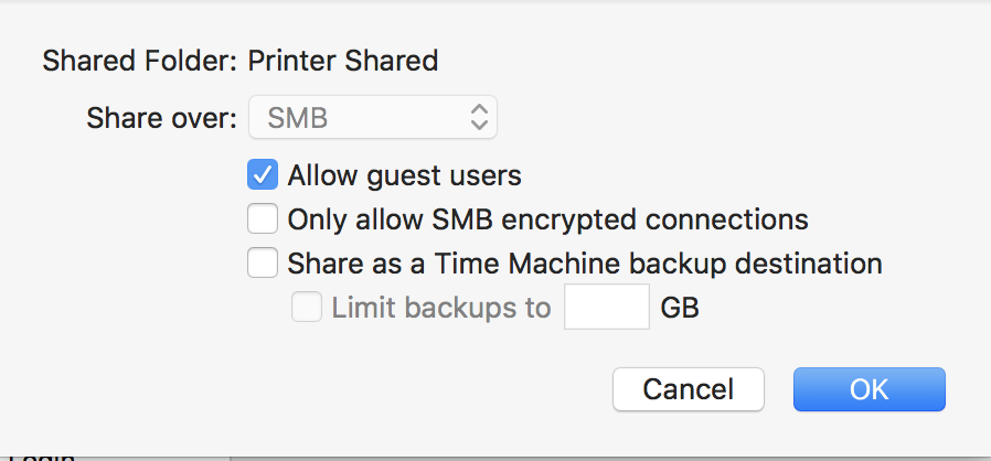 Scan to Network Folder not working after update to Mac OS 10