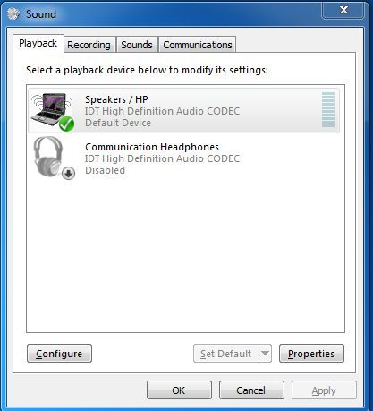 DisplayPort audio not in Playback Devices - HP Support Community