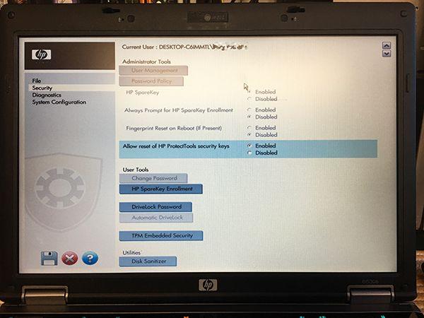 how to remove bios password in hp desktop