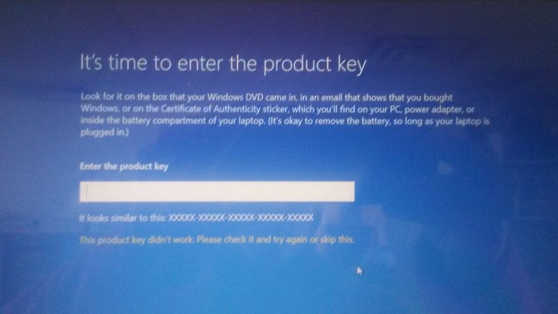 windows 10 skip activation key