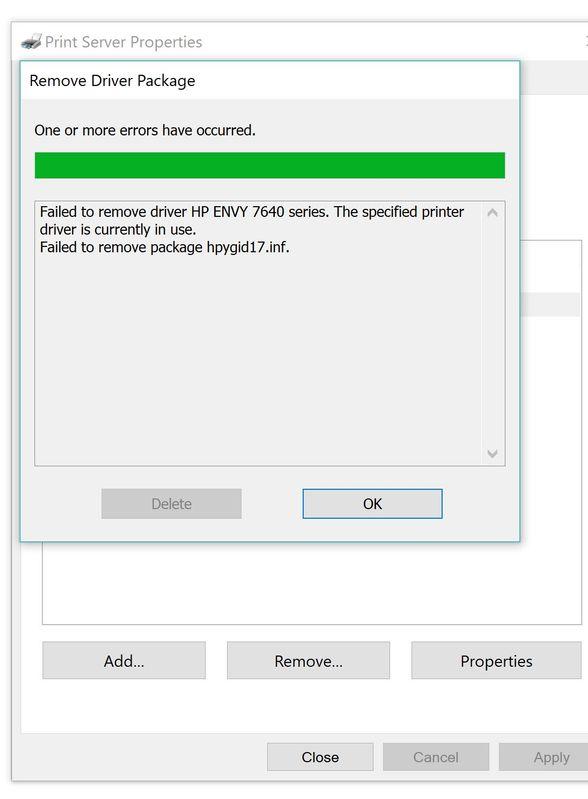 Printer Trouble Shoot Error Removing Driver Package Error.JPG