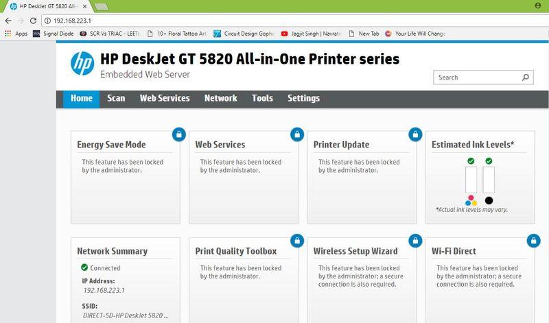 HP5821 Default Admin password - HP Support Community - 6547634