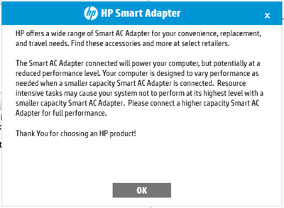 HP Smart Adapter notification - HP Support Community - 6553584