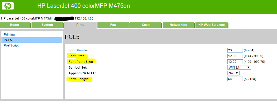Default Lines Per Page Or Font Size For M402n Hp Support Forum