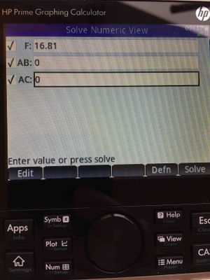 Will not solve for AB and AC