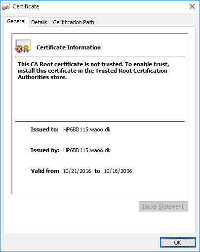 This CA Root certificate is not trusted - HP Support Forum - 6610564