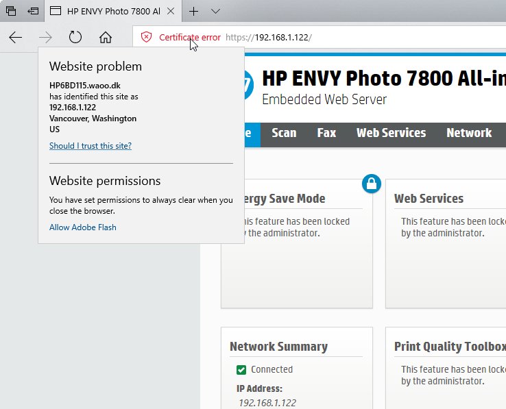 This Ca Root Certificate Is Not Trusted Hp Support Forum 6610564