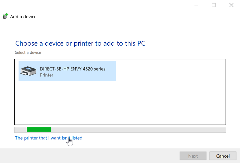 2. Printer found. but click wasnt listed.png