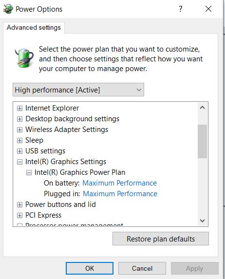 Intel Xtu Default Settings