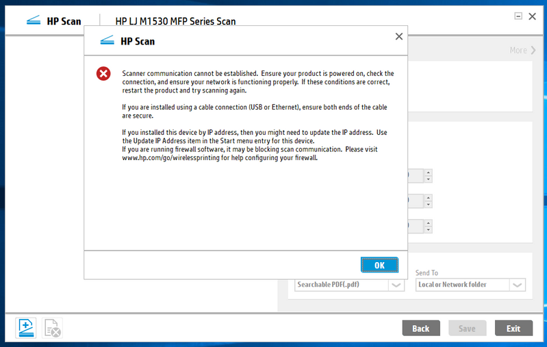 Hp laser jet pro 200 color mfp m276nw won't scan to pdf hp.