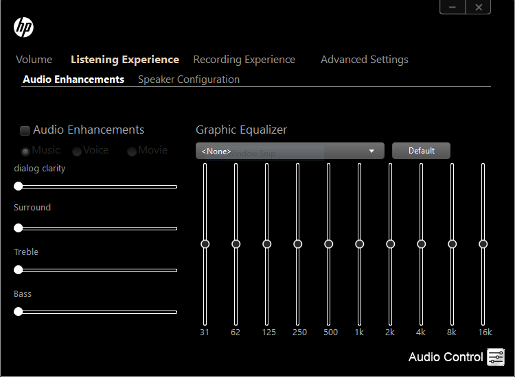 HP Audio Control and other audio options - HP Support