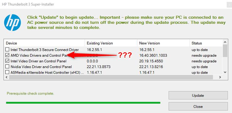 HP Thunderbolt 3 Super-Installer - HP Support Community