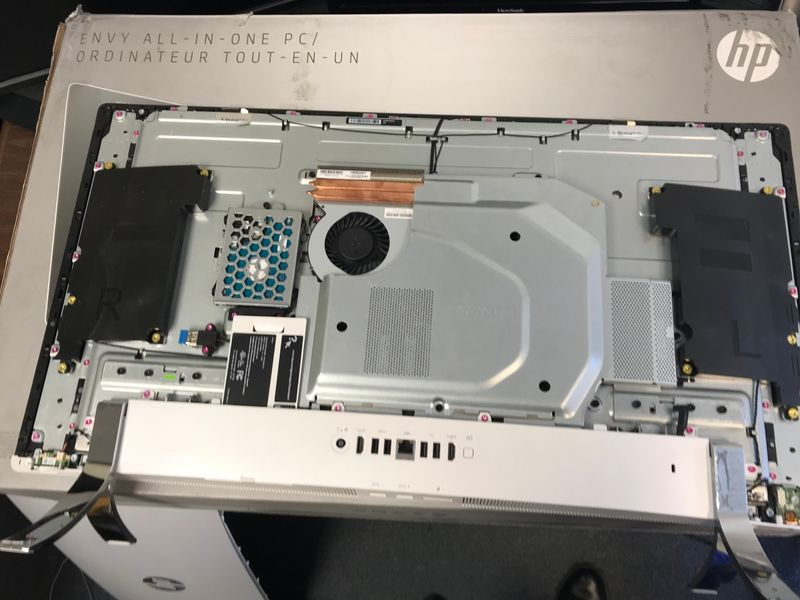 Back of PC with cover removed.