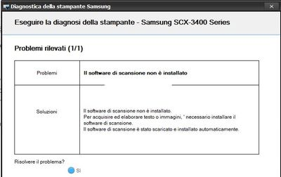 Samsung SCX-3405F: scan and fax after upgrade to W10 1803 +     - HP