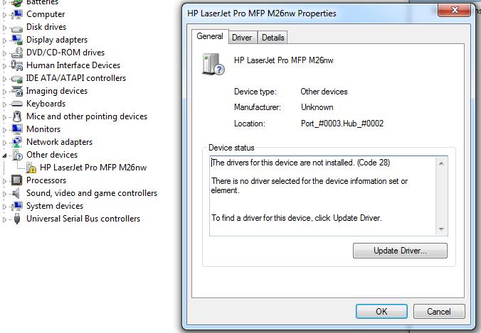 hp laserjet pro mfp m26nw scanner driver download