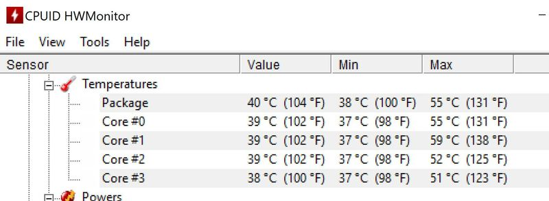 Too high CPU temperatures on gaming  - HP Support Community