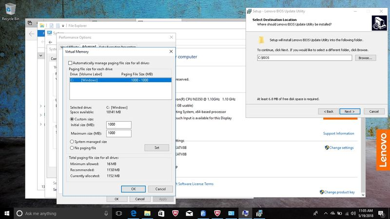 setting swap file to constant 1 gig