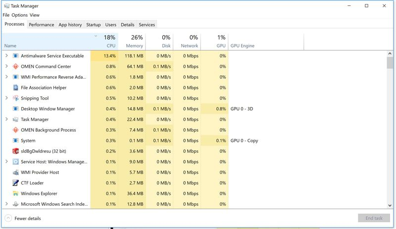 OMEN by HP Laptop 15-ce003 CPU IDLE temp very hot (60-75 Deg