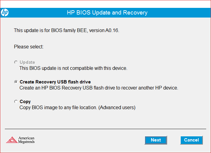 Solved: Can't upgrade BIOS - HP Support Community - 6703508