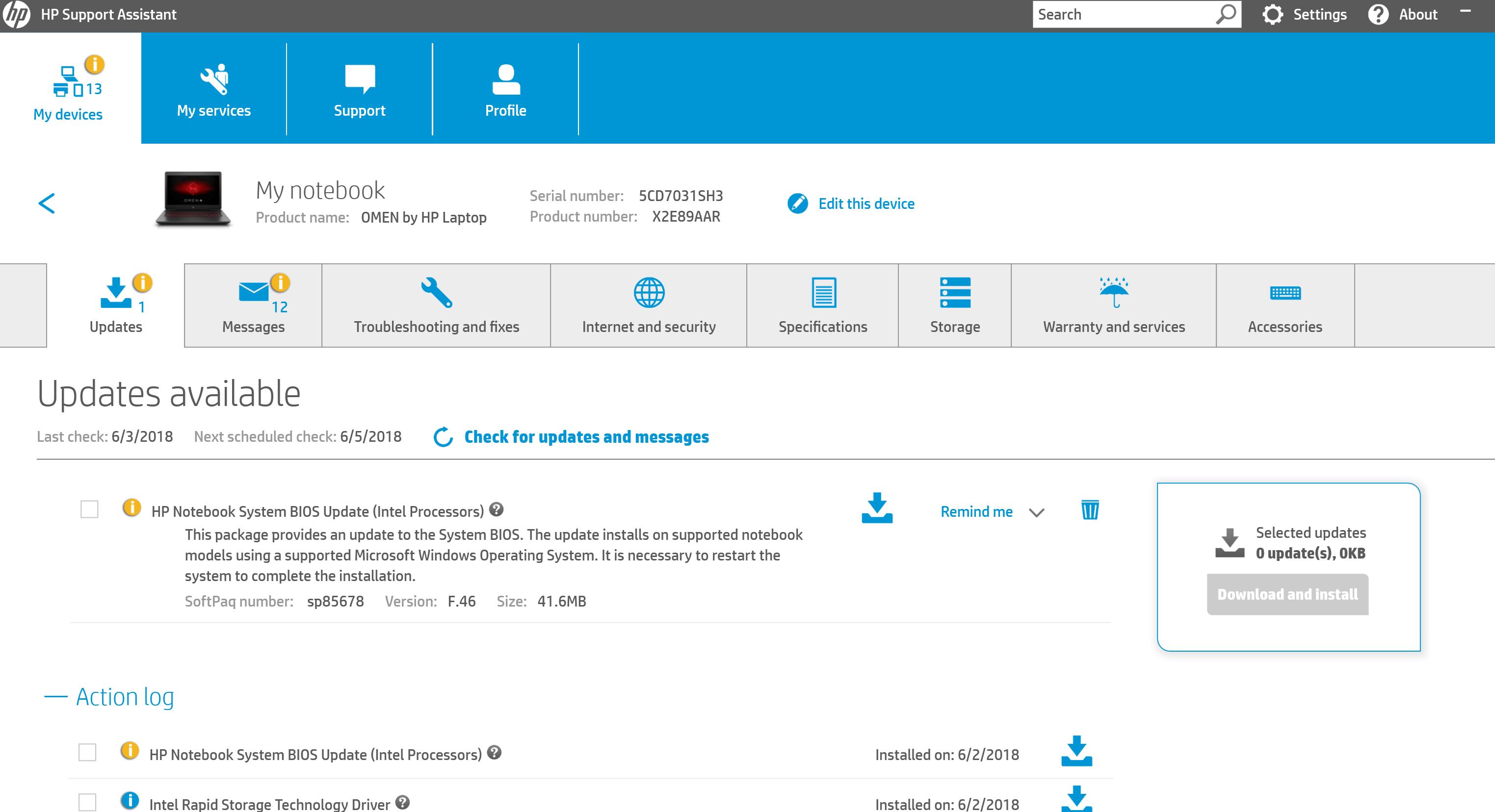 HP Omen BIOS Update - HP Support Community - 6712985