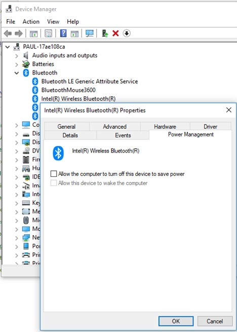 Can't use bluetooth mouse or keyboard to wake up computer fr    - HP